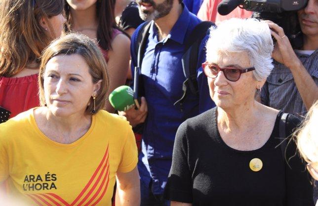 La pta. De la Assembla Nacional Catalana,C.Forcadell, y la de Òmnium, M.Casals