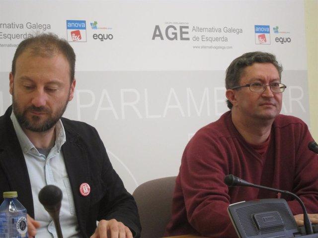 Los diputados de AGE Ramón Vázquez y Xabier Ron