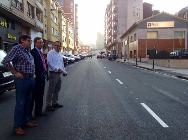 Obras de la calle Pando de Torrelavega