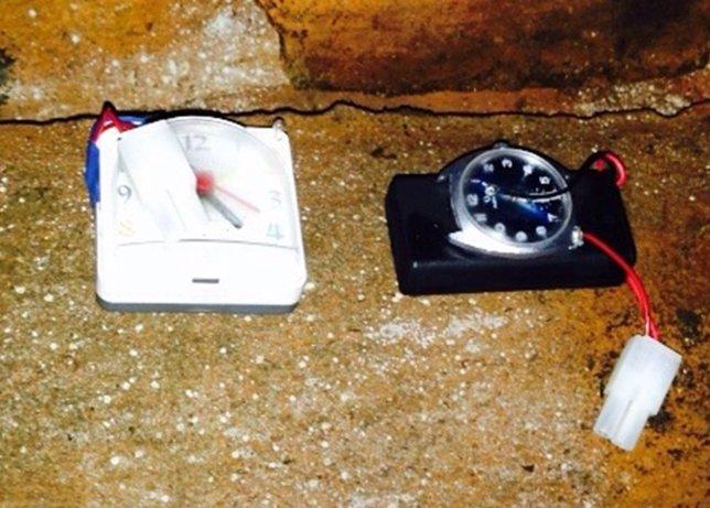 Artefacto explosivo hallado en un zulo de Galicia