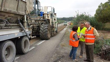 Obras Públicas mejora la A-131 en la Comarca de los Monegros