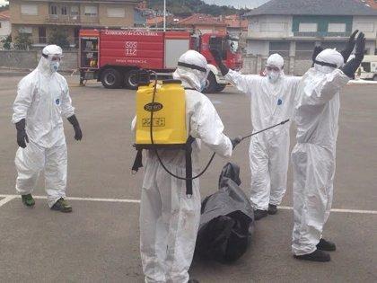 CANTABRIA.-Los Bomberos del 112 se forman en el tratamiento de materias peligrosas