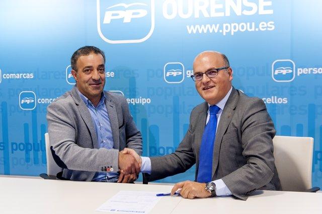 Afiliación la PP de Ourense de Jose Manuel Castro