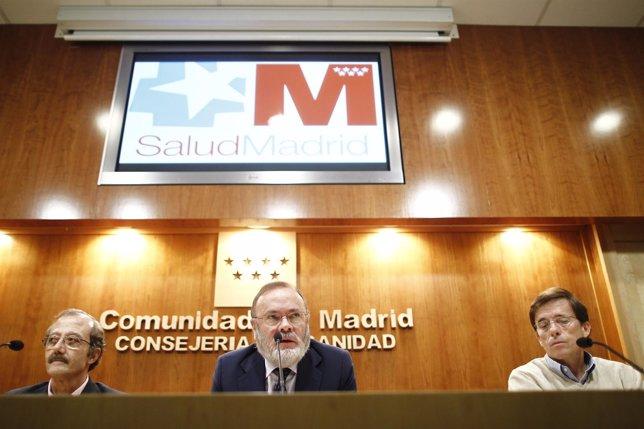 Rueda del gerente de La Paz-Carlos III, Rafael Pérez-Santamarina por el ébola