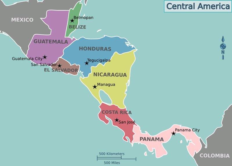 Resultado de imagen para centroamérica