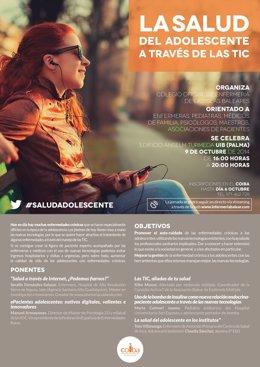 Cartel de La salud del adolescente a través de las TIC