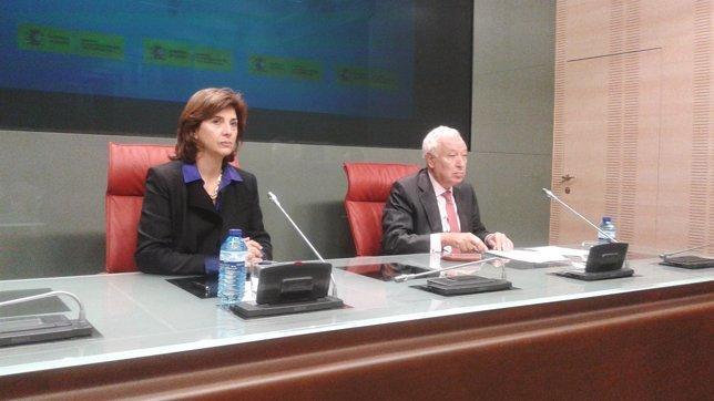 Maria Angela Holguín y José Manuel García-Margallo