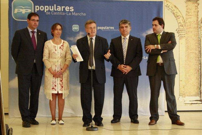 Presidentes provinciales del PP, Núñez, Tizón, Guarinos, Cotillas, Prieto