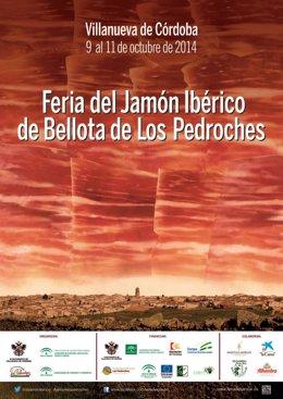 Cartel de la Feria del Jamón de Villanueva de Córdoba