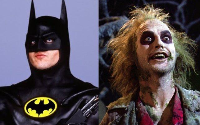 Michael Keaton como Batman y Bettlejuice