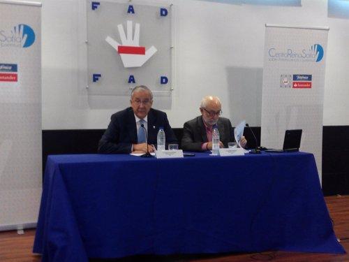 Ignacio Calderón y Eusebio Megías, en la sede de la FAD