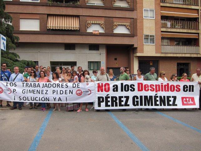 Los trabajadores de Pérez Giménez ante el juzgado