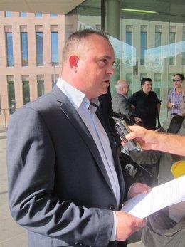 El secretario general de PXC, roberto Hernando, en la Ciudad de la Justicia