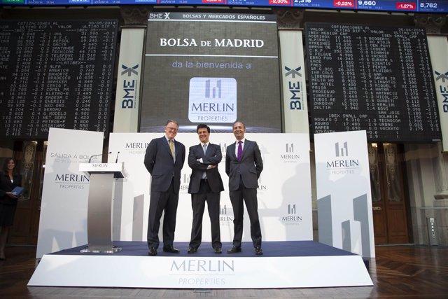 La socimi Merlín Properties en la jornada de su estreno en Bolsa