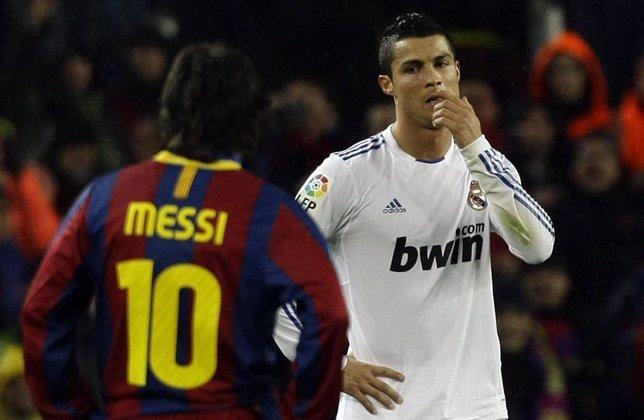 Cristiano Ronaldo y Leo Messi en encuentro del  Real Madrid FC Barcelona