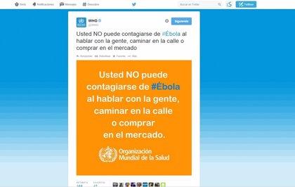 La OMS cambia su idioma oficial por el español en un 'tuit' para recordar que el ébola no se contagia hablando