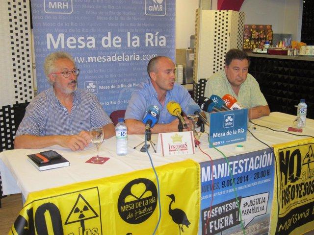 Miembros de la Mesa de la Ría, Aurelio Glez, Rafael Gavilán, Juan Manuel Buendía