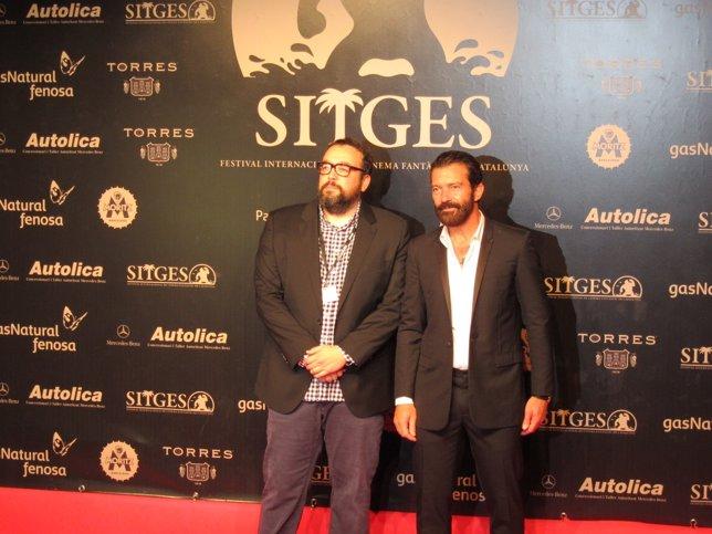 Antonio Banderas y Gabe Ibáñez en Sitges
