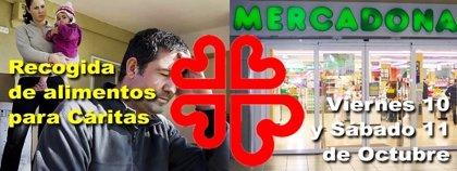 Cáritas pone en marcha una campaña de recogida de alimentos en los supermercados de Mercadona de la capital