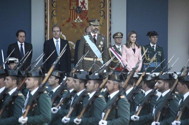 Los Príncipes de Asturias en el Desfile del 12 de Octubre