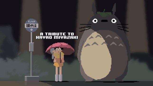 Tributo en píxel a Hayao Miyazaki