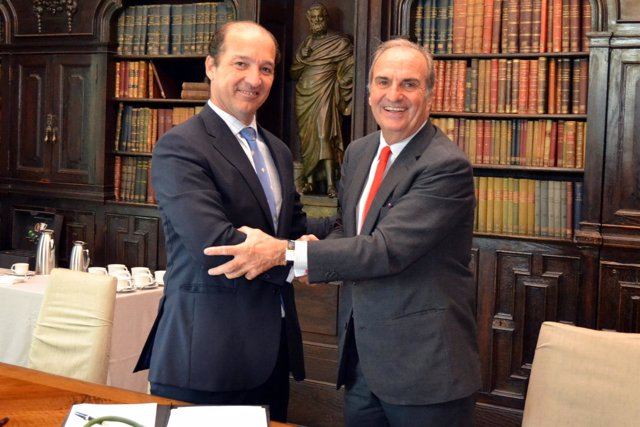 A.Carmona (Conversia) y  J.Gay de Montellà (Fomento del Trabajo)