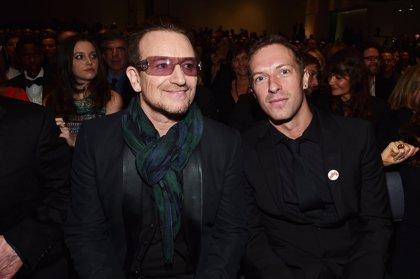 """Bono afirma que Chris Martin es un """"genio"""""""