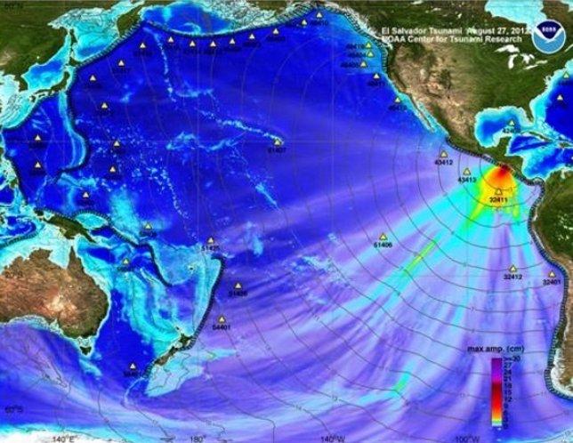 Tsunami ocurrido en El Salvador en 2012