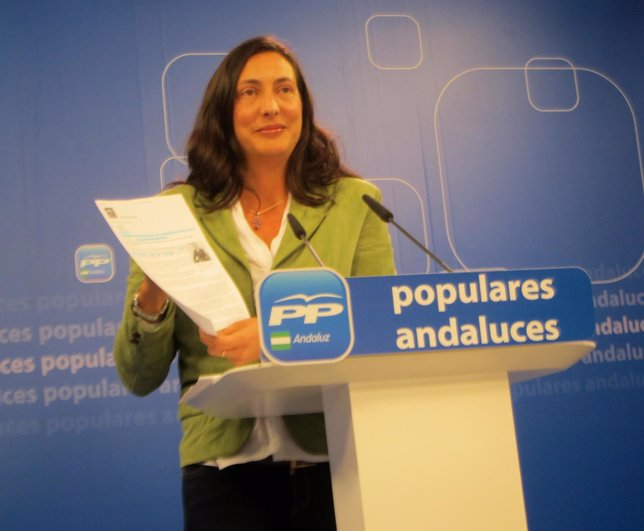 Dolores López Gabarro en rueda de prensa este martes
