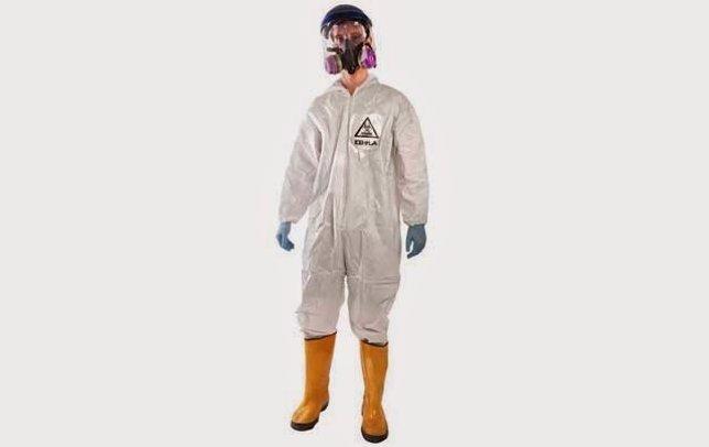Disfraz de traje contra el Ébola