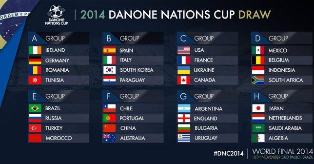 Cuadro final de la Danone Nations Cup 2014
