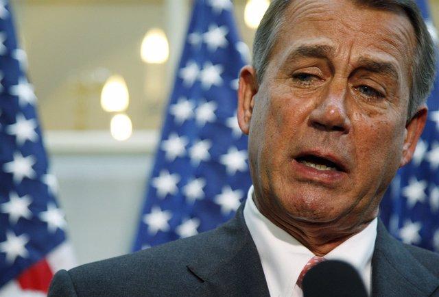 El presidente de la Cámara de Representantes, John Boehner