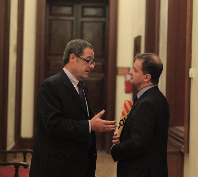 Pere Macias, de CiU, y Alfred Bosch, de ERC