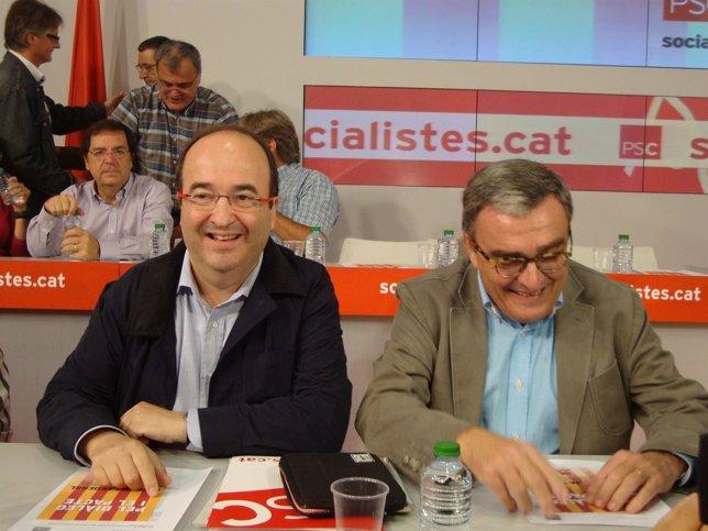 Miquel Iceta y Àngel Ros.