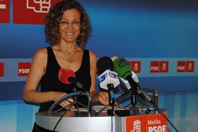 La vicesecretaria general del PSOE de Melilla, Gloria Rojas