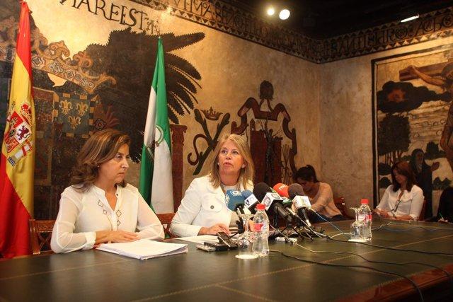 Angeles Muñoz en rueda de prensa alcaldesa de marbella