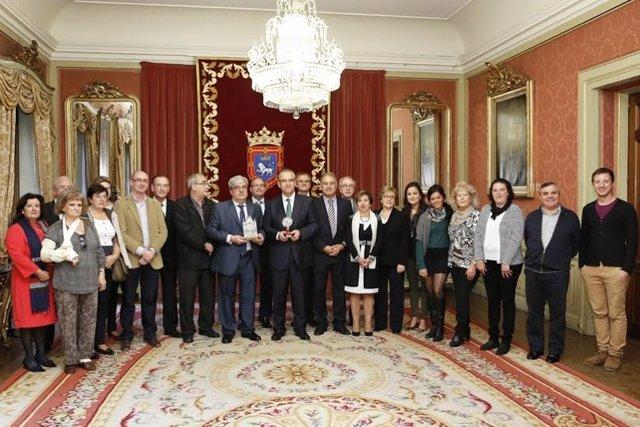 Recepción a la Federación de Casas Regionales de Navarra.