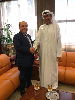 José Torres Hurtado, y su homólogo en Dubai, Hussain Nass