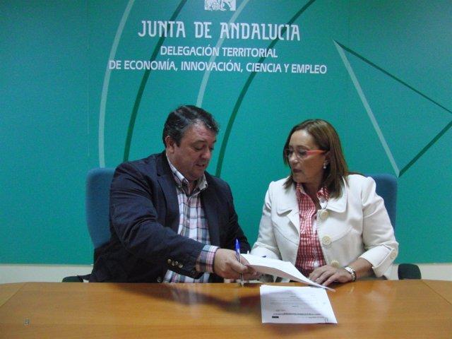 María Luisa Faneca y Eduardo Muñoz.
