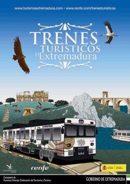 Cartel Tren Turístico de Extremadura