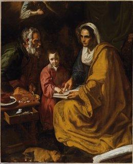 La Educación de la Virgen de Yale, realizada por Velázquez