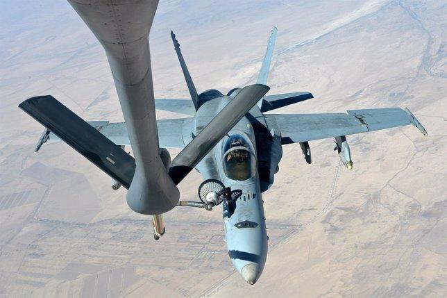Un F-18E Super Hornet de la Marina