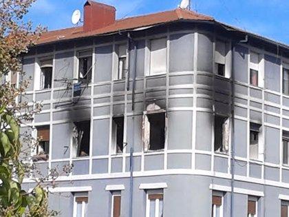 Fallece  tras producirse un incendio en una vivienda de Lutxana