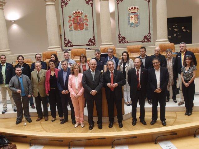 Ceniceros con una delegación de autoridades del Principado de Andorra