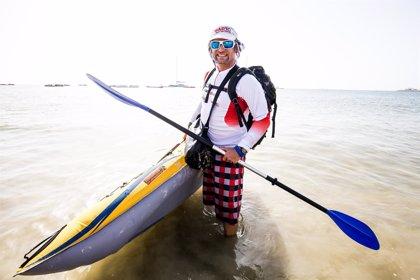 Antonio de la Rosa inicia su reto de cruzar el Atlántico a Remo en completa autonomía