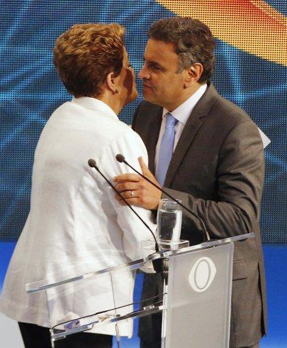 Rousseff y Neves bajan el tono en su segundo cara a cara en televisión