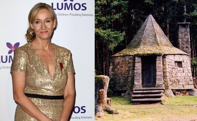 J.K. Rowling y la cabaña de Hagrid