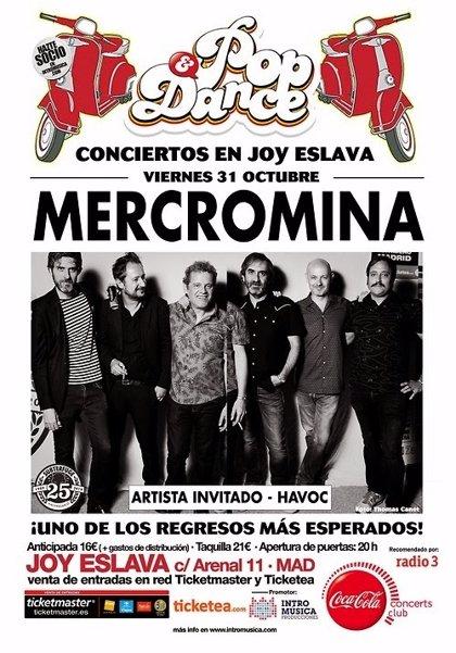 Mercromina se reúnen para actuar este otoño en Madrid, Albacete y Valencia