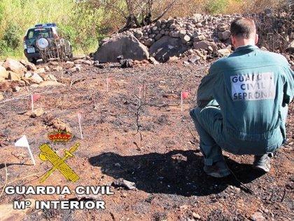 Detenido el presunto autor de varios incendios forestales declarados en agosto en Pozuelo de Zarzón