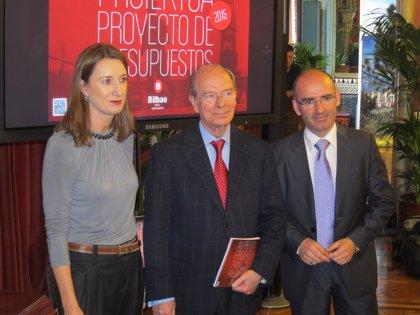 El Presupuesto de Bilbao para 2015 ascenderá a 489,7 millones, un 4,5% menos que el ejercicio anterior